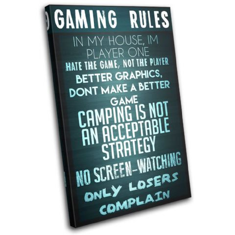 Gaming COD House Rules Typography - 13-2364(00B)-SG32-PO